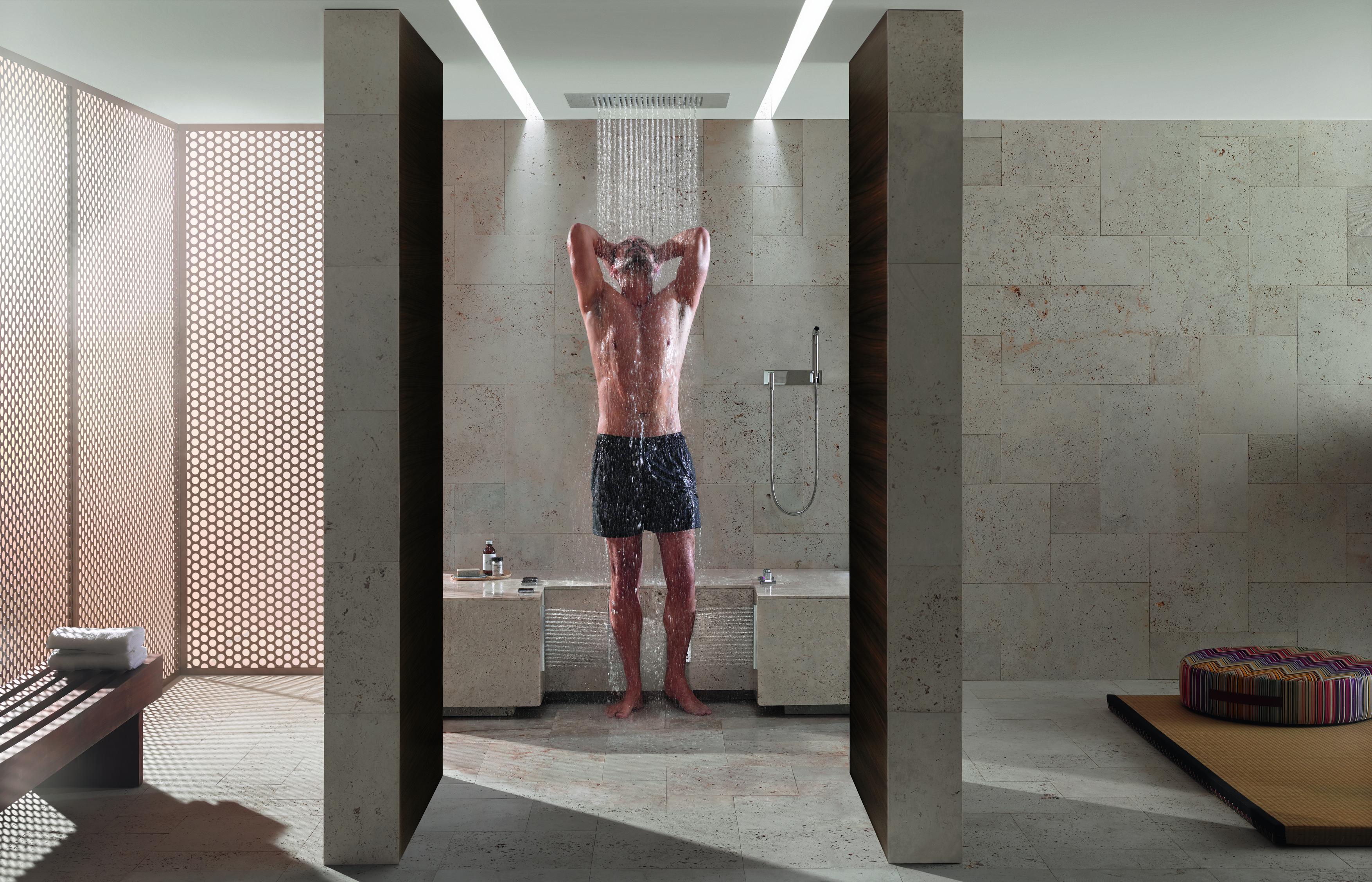 comfort shower by dornbracht castle tiles and bathroom studio. Black Bedroom Furniture Sets. Home Design Ideas