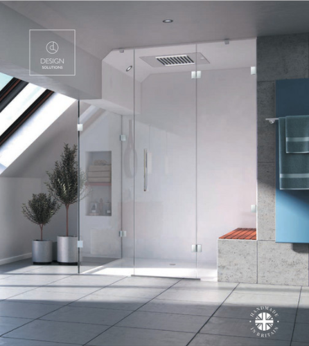 The new frameless shower enclosure range from AQATA