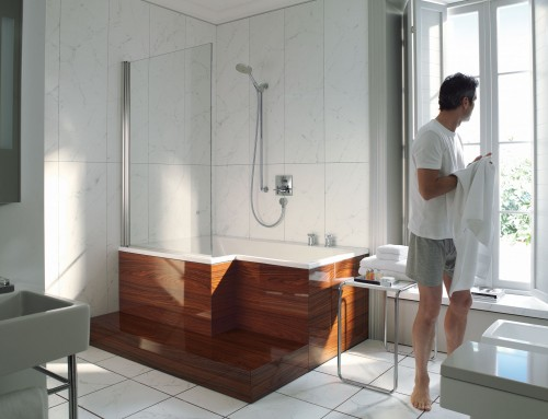 Duravit Seadream Bathtub, Furniture Panel, Step and Screen