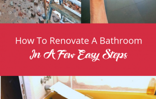 How To Renovate A Bathroom In A Few Easy Steps